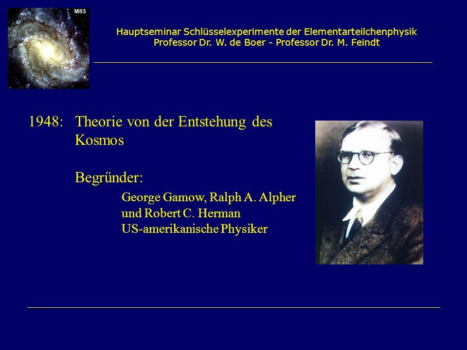 Hauptseminar Schlüsselexperimente der Elementarteilchenphysik Professor Dr. W. de Boer - Professor Dr. M. Feindt 1948:Theorie von der Entstehung des K
