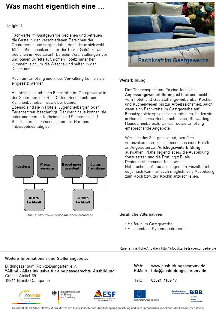 Weitere Informationen und Stellenangebote: Bildungszentrum Ribnitz-Damgarten e.V.