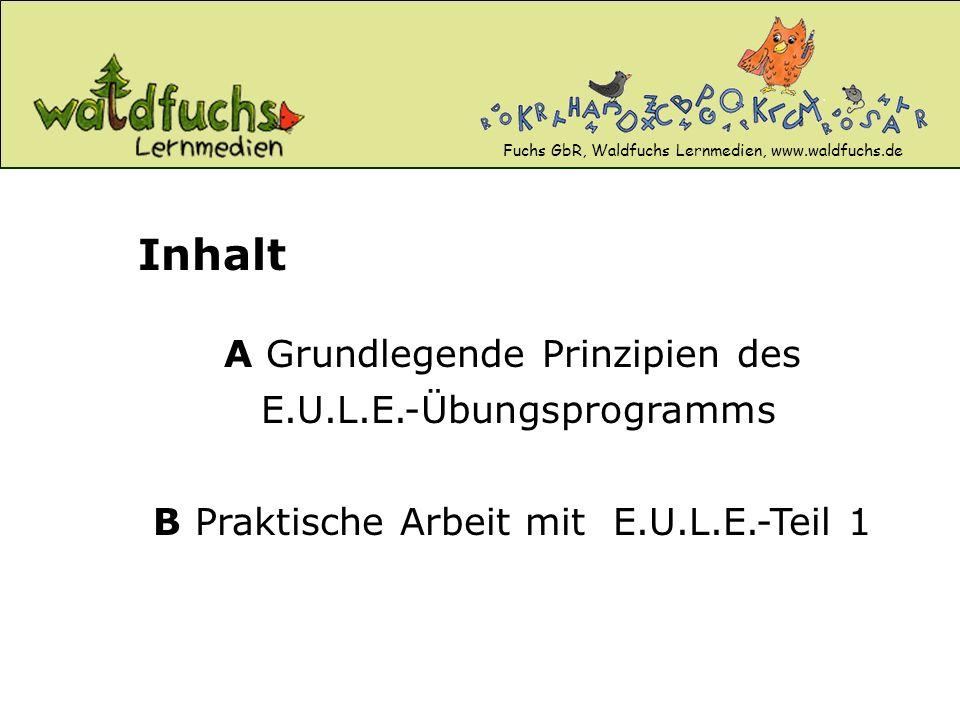 B Praktische Arbeit mit E.U.L.E.-Teil 1 A Grundlegende Prinzipien des E.U.L.E.-Übungsprogramms Inhalt