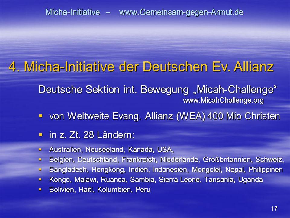 17 Micha-Initiative – www.Gemeinsam-gegen-Armut.de Deutsche Sektion int.