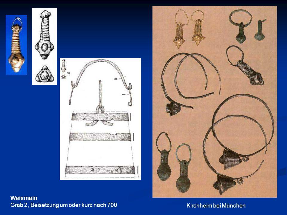 Weismain Grab 2, Beisetzung um oder kurz nach 700 Kirchheim bei München