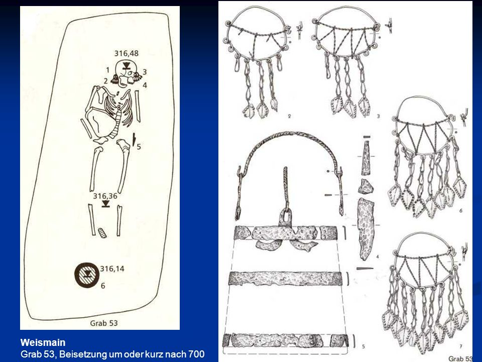 Weismain Grab 53, Beisetzung um oder kurz nach 700