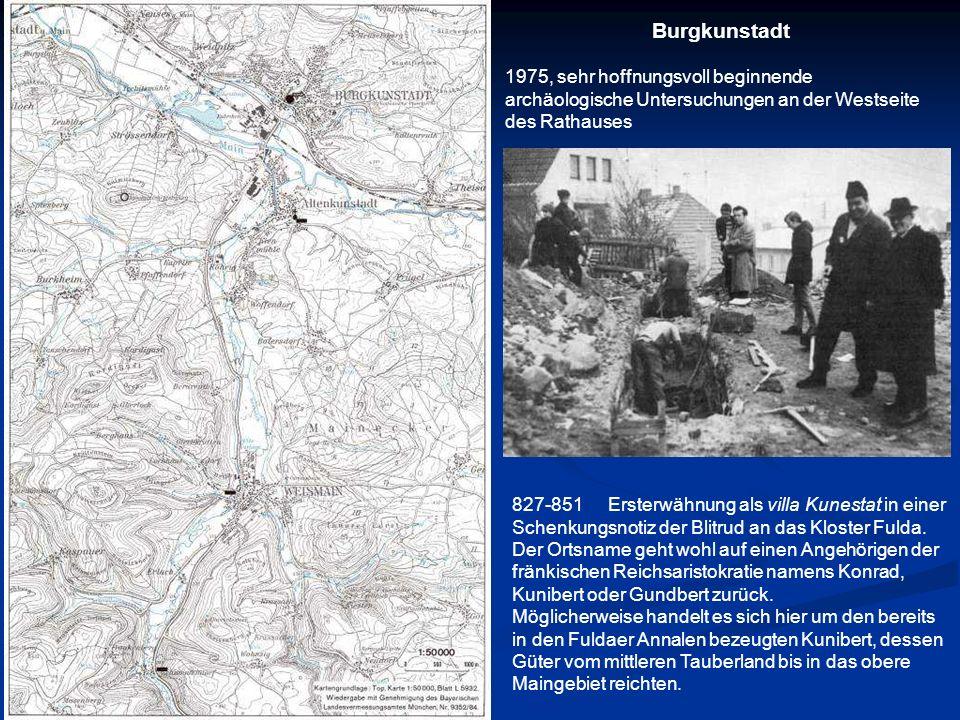 827-851Ersterwähnung als villa Kunestat in einer Schenkungsnotiz der Blitrud an das Kloster Fulda. Der Ortsname geht wohl auf einen Angehörigen der fr