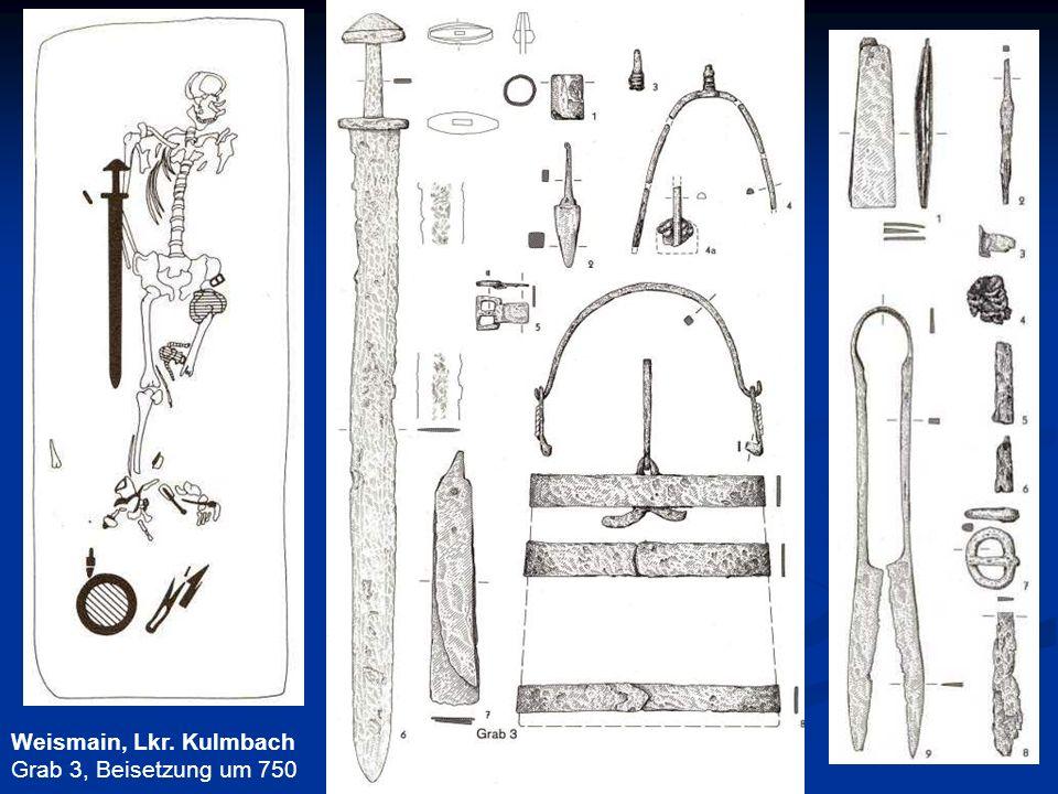 Weismain, Lkr. Kulmbach Grab 3, Beisetzung um 750