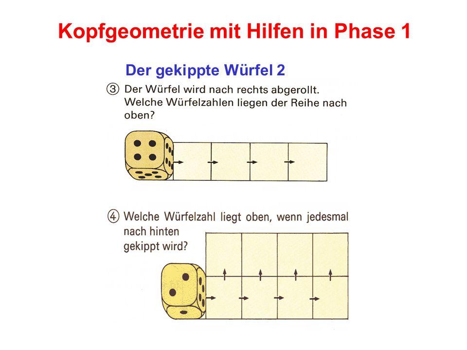 Kopfgeometrie mit Hilfen in Phase 1 Der gekippte Würfel 2