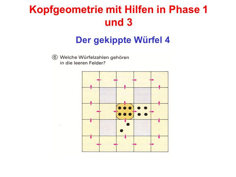 Kopfgeometrie mit Hilfen in Phase 1 und 3 Der gekippte Würfel 4