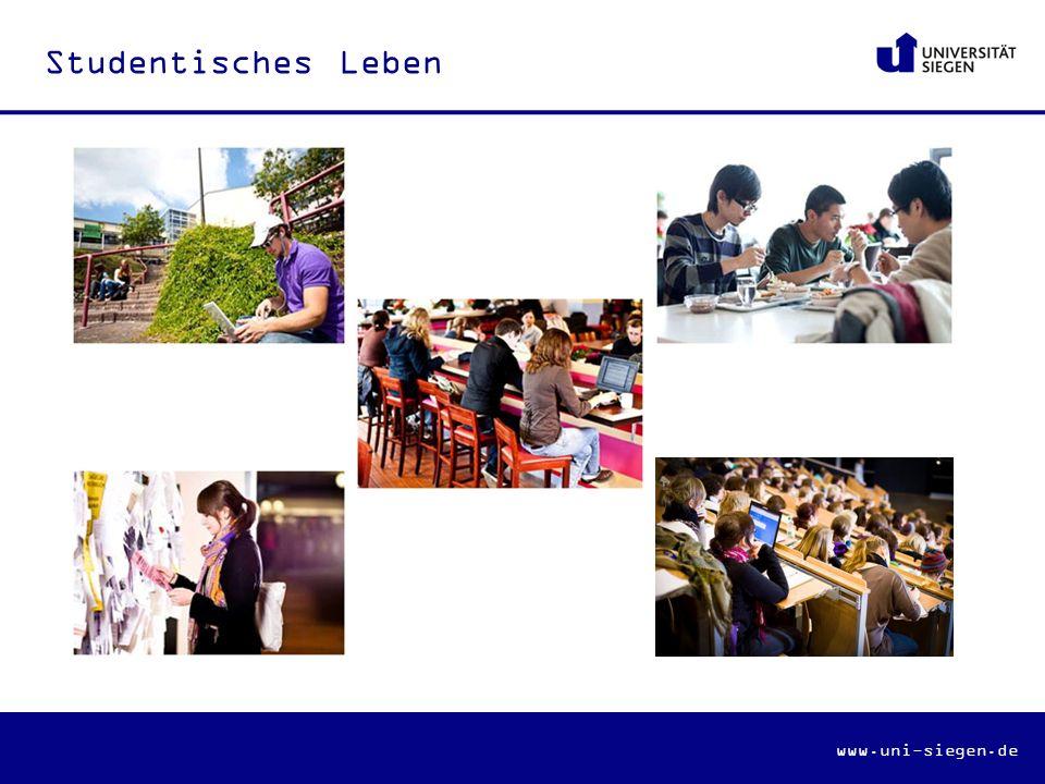 www.uni-siegen.de Studentisches Leben