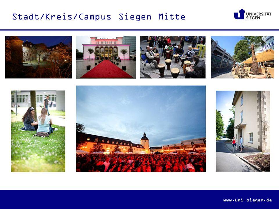 www.uni-siegen.de Stadt/Kreis/Campus Siegen Mitte