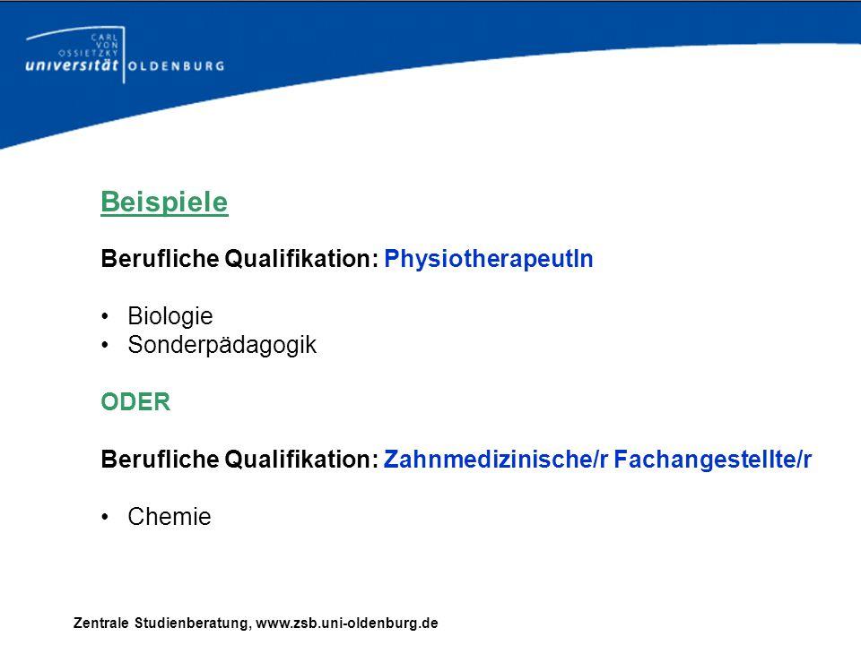 Zentrale Studienberatung, www.zsb.uni-oldenburg.de Bewerben an der Uni Oldenburg Was ist wichtig.