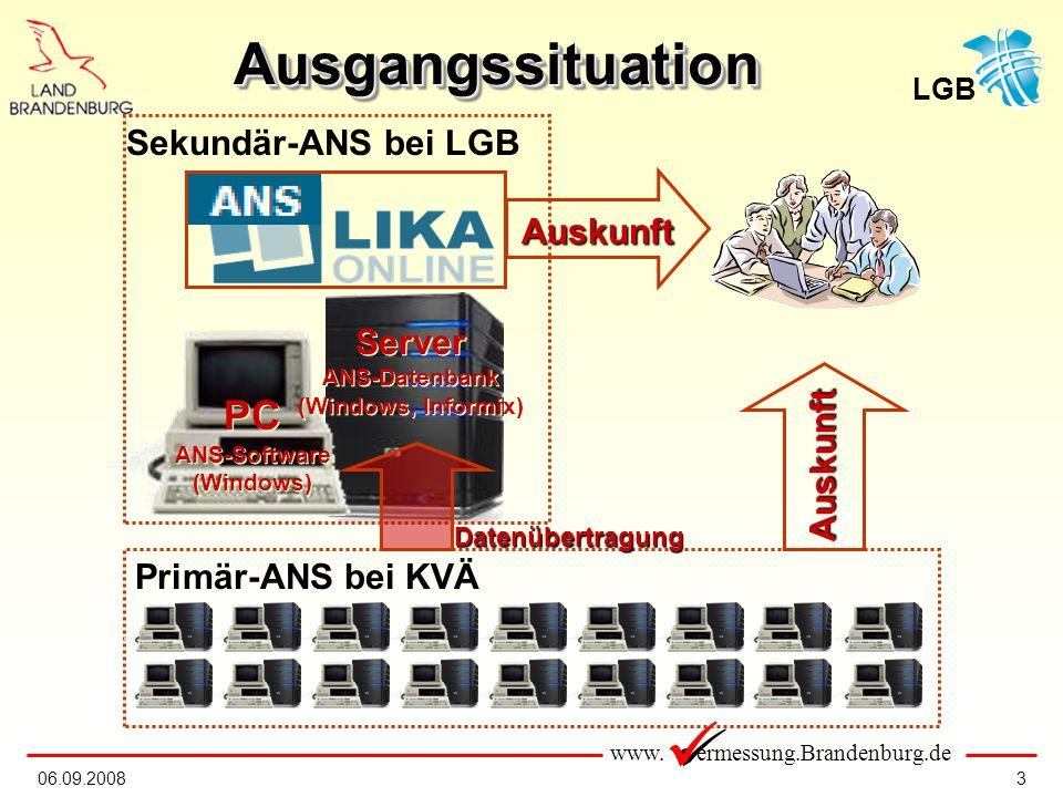 www.ermessung.Brandenburg.de LGB 1406.09.2008 Warum ein neues ANS.