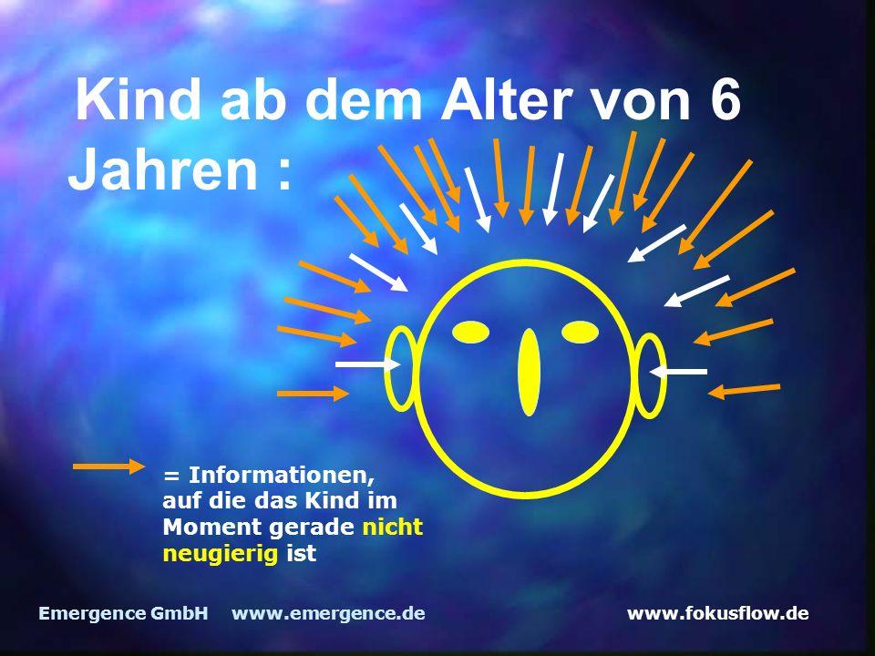 www.fokusflow.deEmergence GmbH www.emergence.de Kind ab dem Alter von 6 Jahren : = Informationen, auf die das Kind im Moment gerade nicht neugierig ist