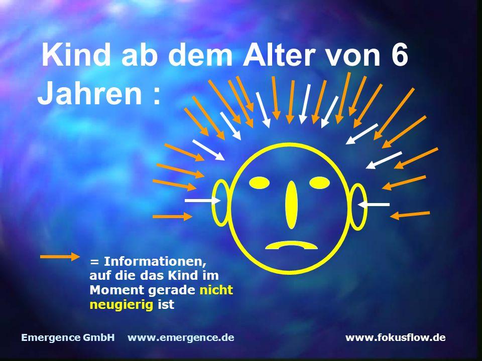 www.fokusflow.deEmergence GmbH www.emergence.de Kind ab dem Alter von 6 Jahren : = Informationen, auf die das Kind im Moment gerade nicht neugierig is