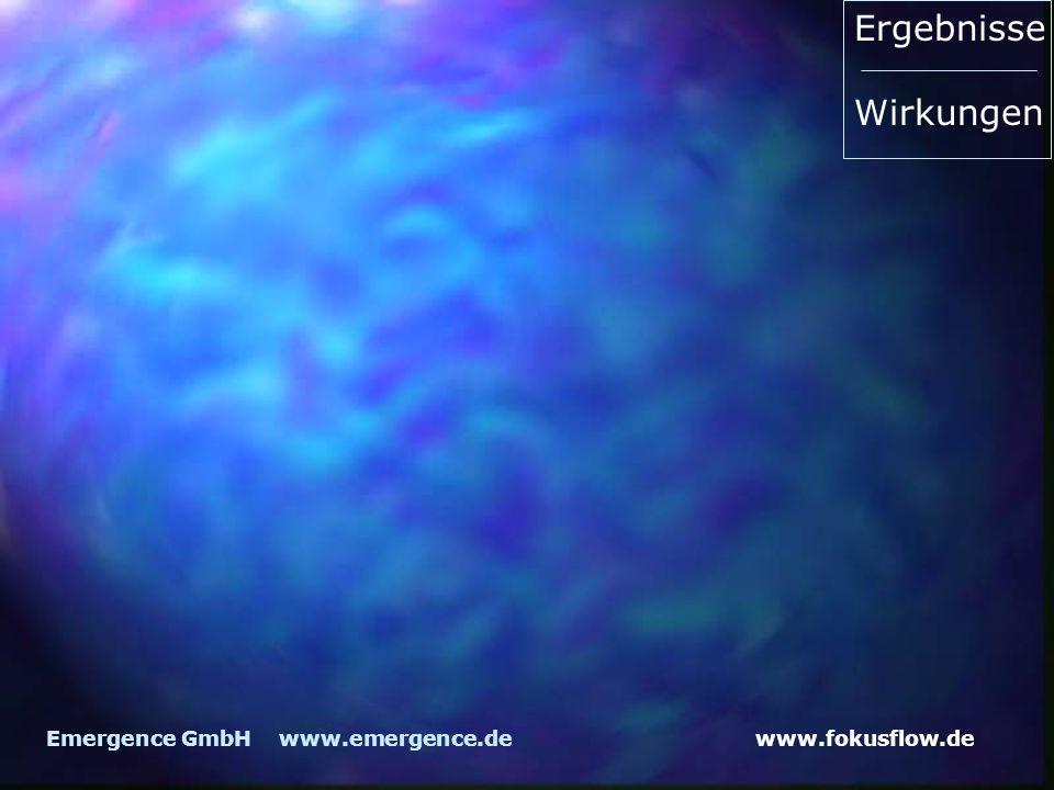 www.fokusflow.deEmergence GmbH www.emergence.de Ergebnisse Wirkungen
