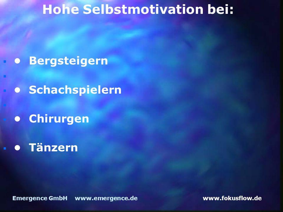 www.fokusflow.deEmergence GmbH www.emergence.de Bergsteigern Schachspielern Chirurgen Tänzern Hohe Selbstmotivation bei: