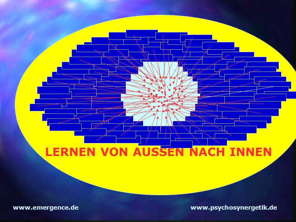 www.emergence.dewww.psychosynergetik.de LERNEN VON AUSSEN NACH INNEN