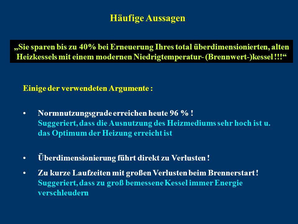 Brennerstartverluste Angeblich erhöhte Verluste beim Brennerstart bei überdimensionierten Kesseln mit kurzer Brennerlaufzeit !!.