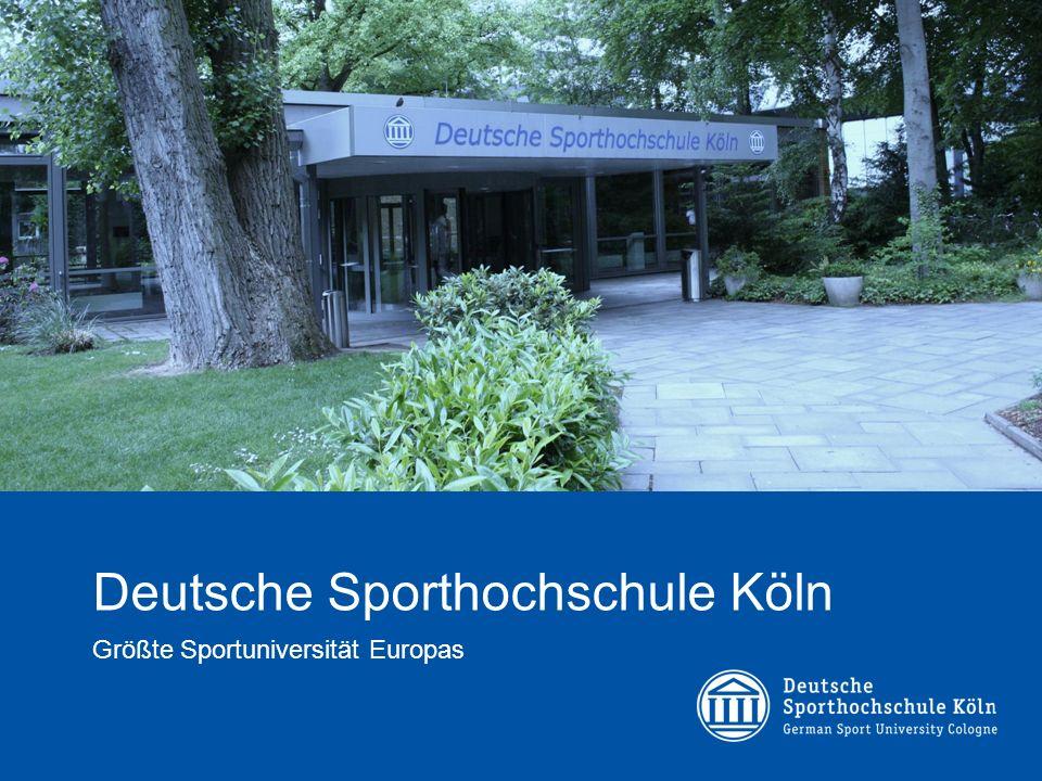 Deutsche Sporthochschule Köln Größte Sportuniversität Europas