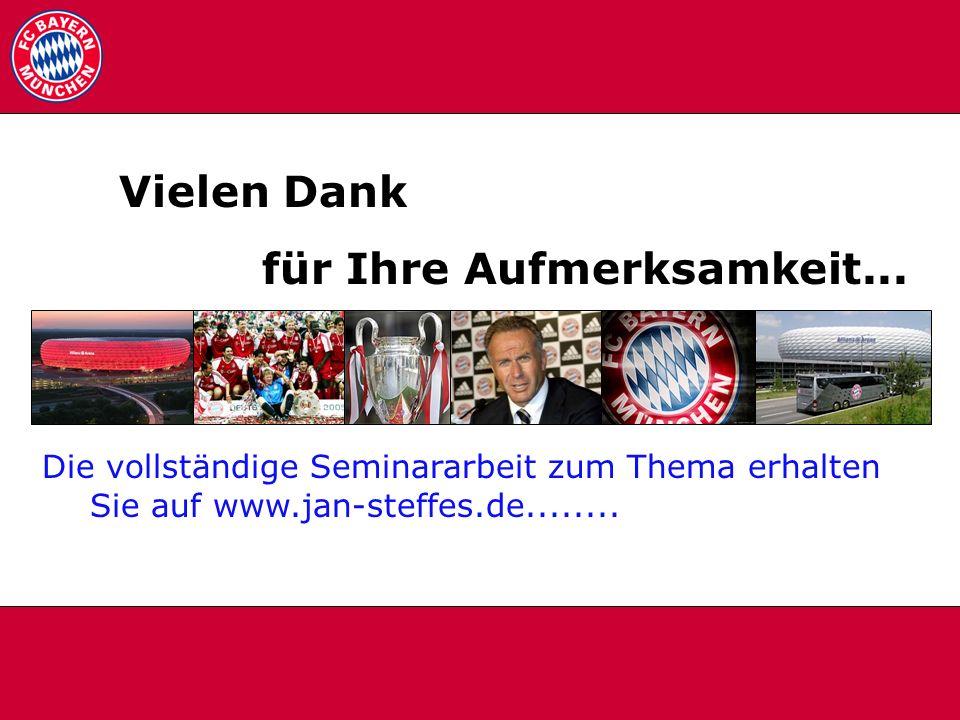 Danke Vielen Dank für Ihre Aufmerksamkeit... Die vollständige Seminararbeit zum Thema erhalten Sie auf www.jan-steffes.de........