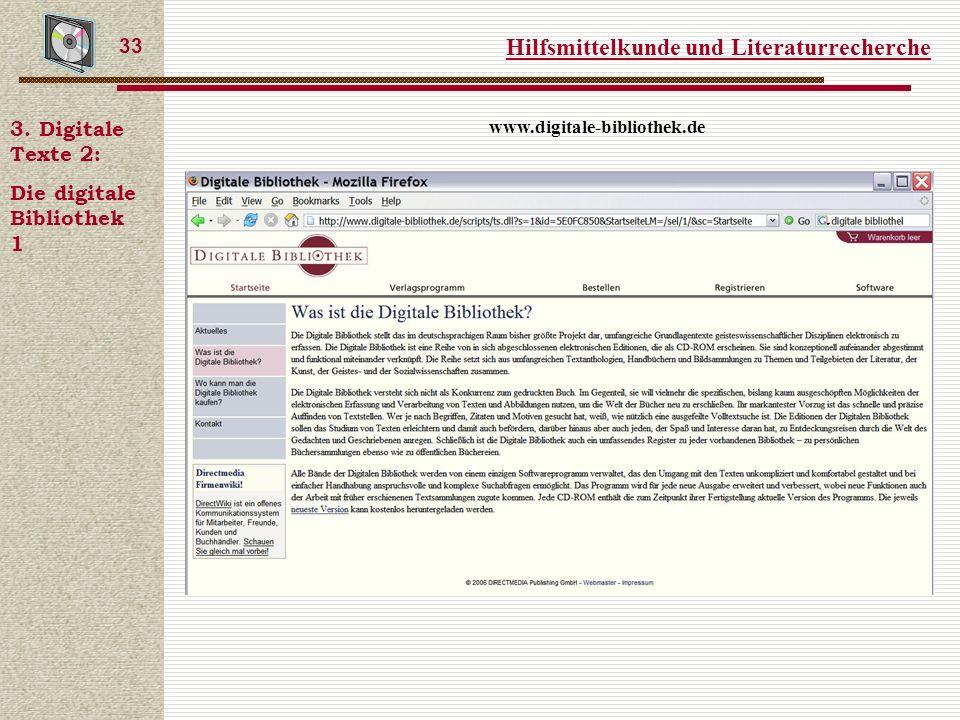 Hilfsmittelkunde und Literaturrecherche 33 3.