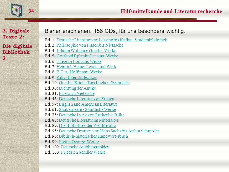 Hilfsmittelkunde und Literaturrecherche 34 3.