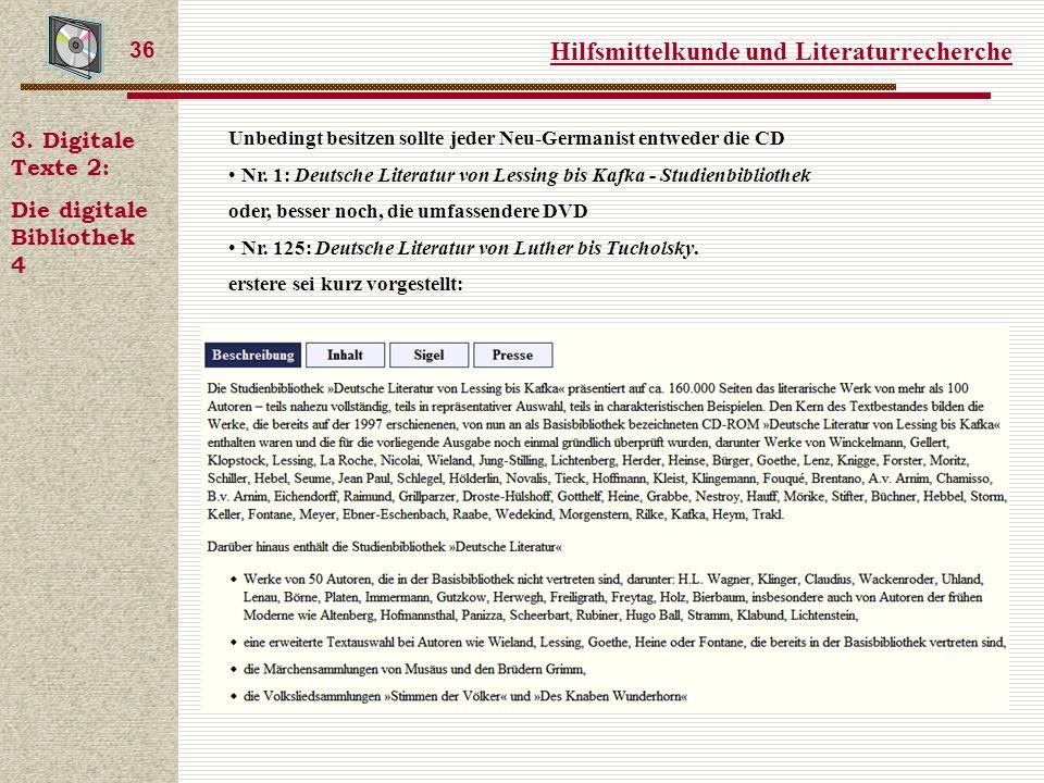 Hilfsmittelkunde und Literaturrecherche 36 3.