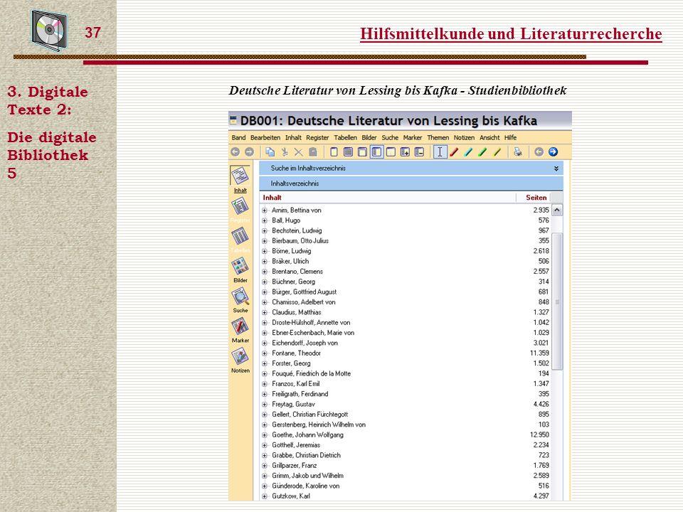 Hilfsmittelkunde und Literaturrecherche 37 3.