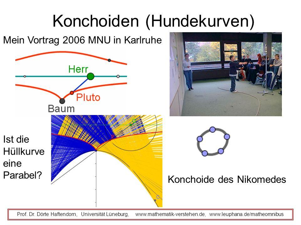 Konchoiden (Hundekurven) Prof. Dr. Dörte Haftendorn, Universität Lüneburg, www.mathematik-verstehen.de, www.leuphana.de/matheomnibus Mein Vortrag 2006