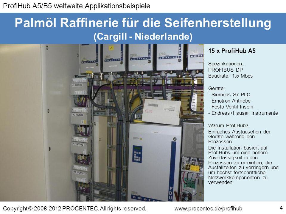 ProfiHub A5/B5 weltweite Applikationsbeispiele Copyright © 2008-2012 PROCENTEC. All rights reserved.www.procentec.de/profihub 4 (Cargill - Niederlande