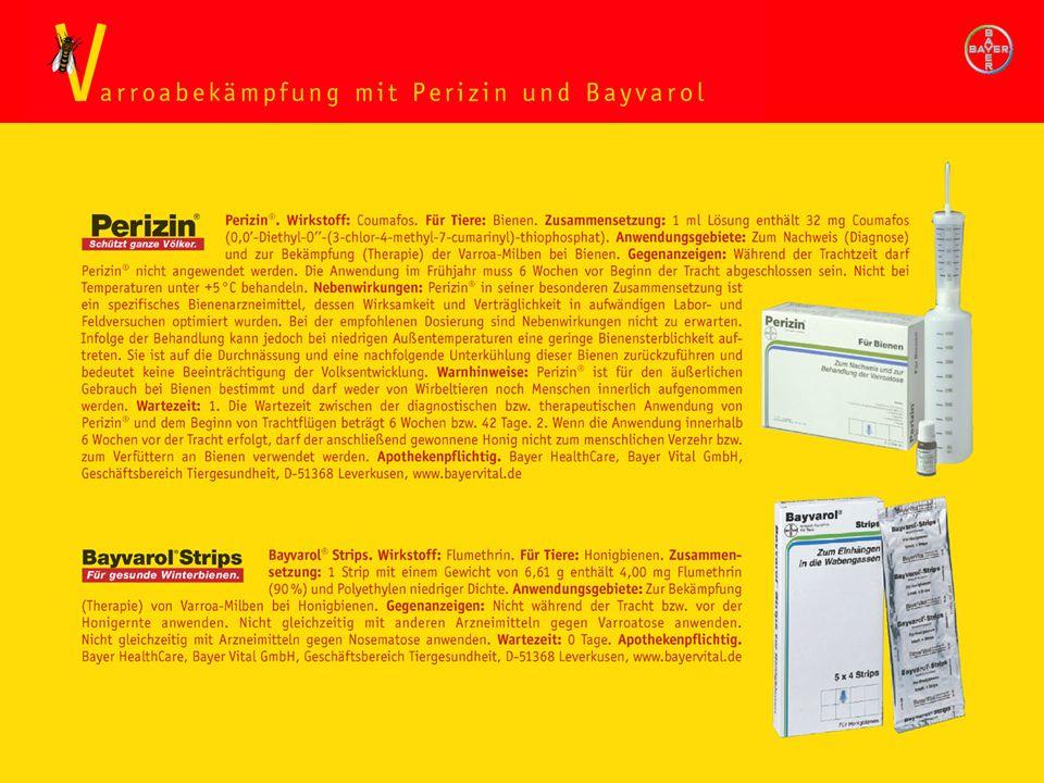 Varroabekämpfung Perizin/Bayvarol
