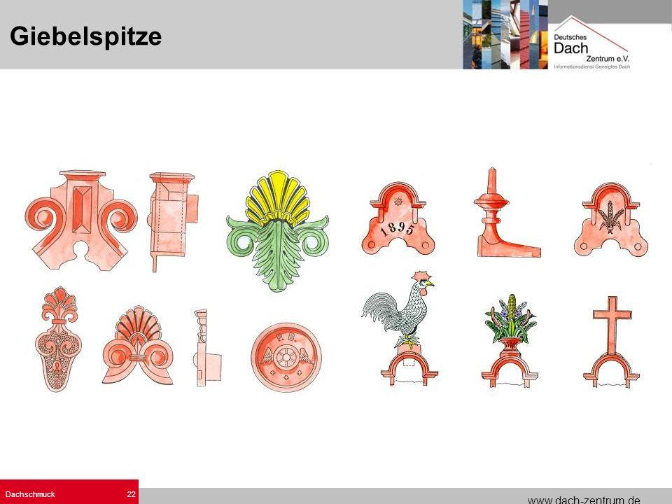 www.dach-zentrum.de Dachschmuck22 Giebelspitze