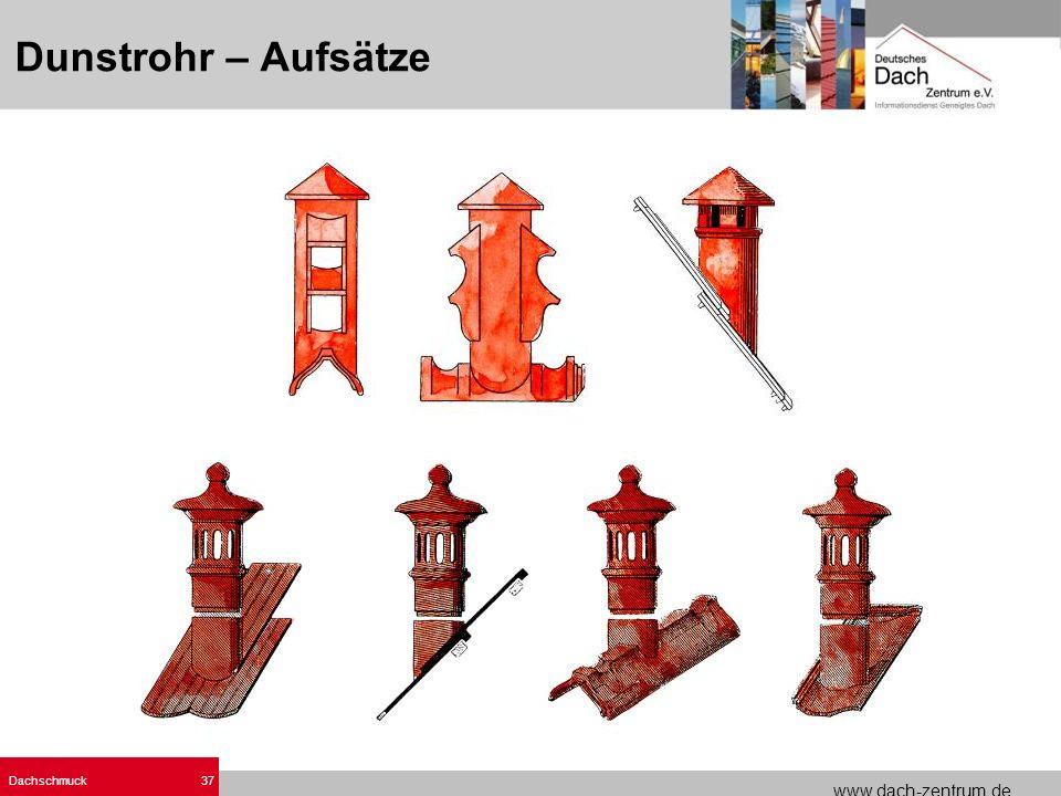 www.dach-zentrum.de Dachschmuck37 Dunstrohr – Aufsätze