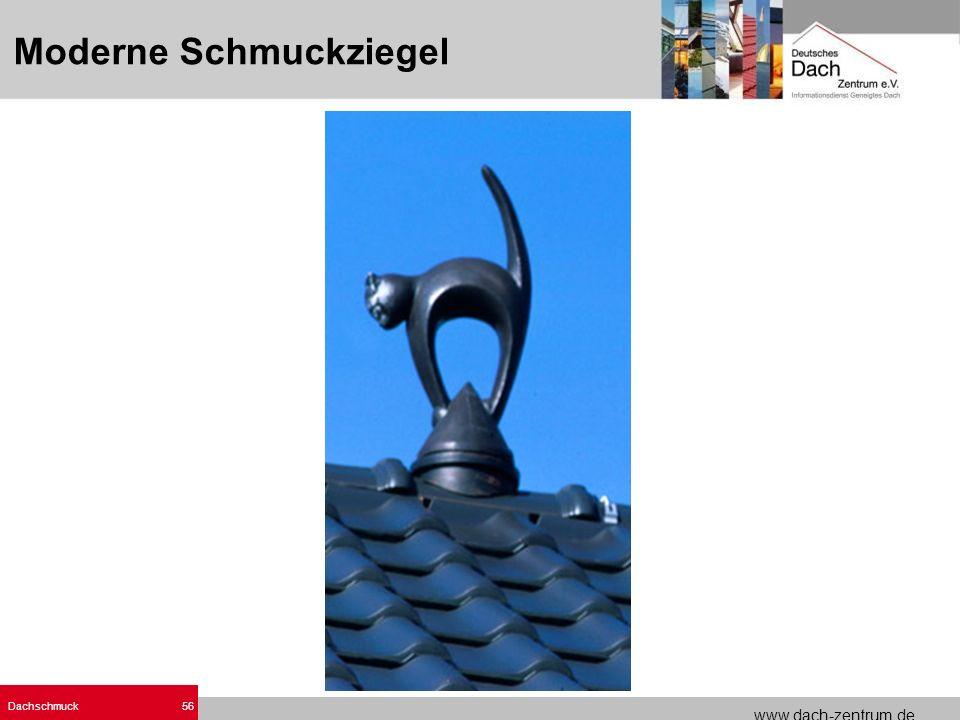 www.dach-zentrum.de Dachschmuck56 Moderne Schmuckziegel