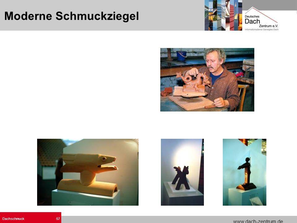 www.dach-zentrum.de Dachschmuck57 Moderne Schmuckziegel