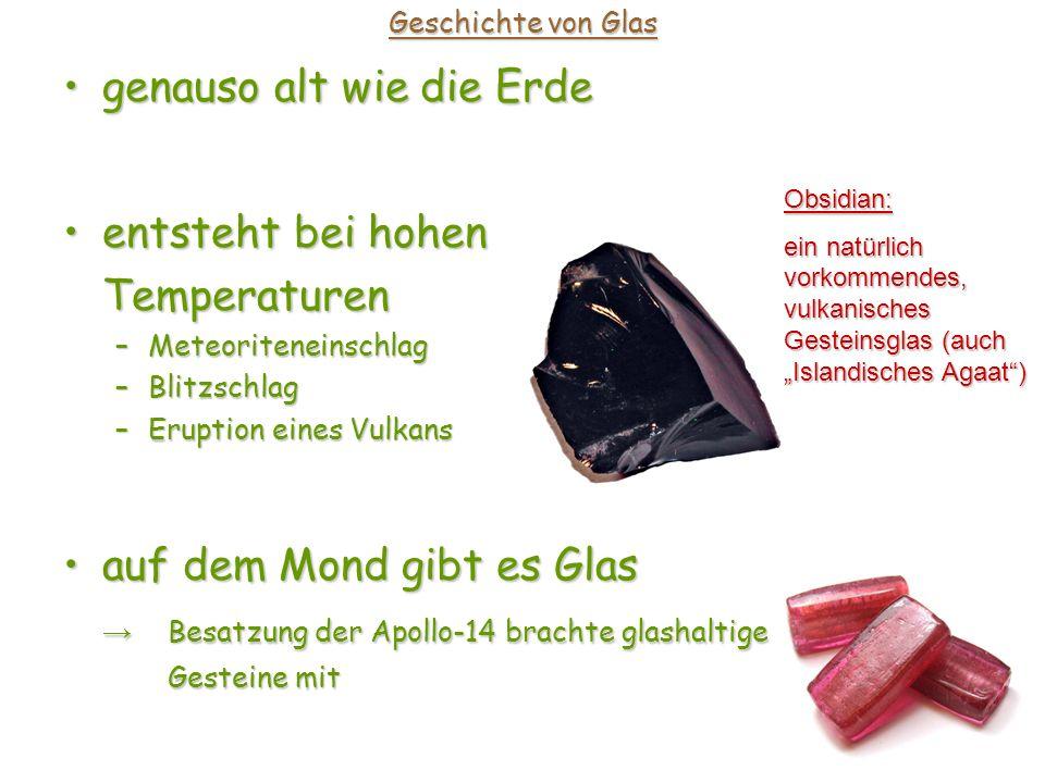 Eigenschaften von Glas Glas ist ein schlechter Wärmeleiter: wirkt wärmeisolierendwirkt wärmeisolierend keine (sehr geringe) Wärmeleitfähigkeit keine (sehr geringe) Wärmeleitfähigkeit Infrarot-Strahlung wird gespeichertInfrarot-Strahlung wird gespeichert