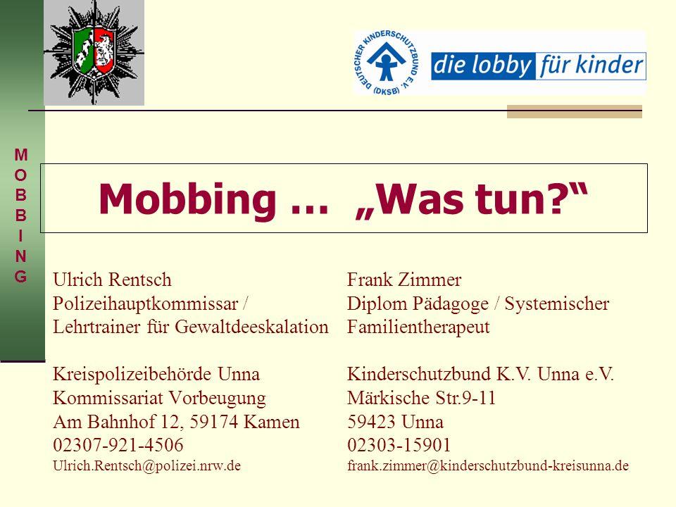 Ulrich Rentsch Polizeihauptkommissar / Lehrtrainer für Gewaltdeeskalation Kreispolizeibehörde Unna Kommissariat Vorbeugung Am Bahnhof 12, 59174 Kamen