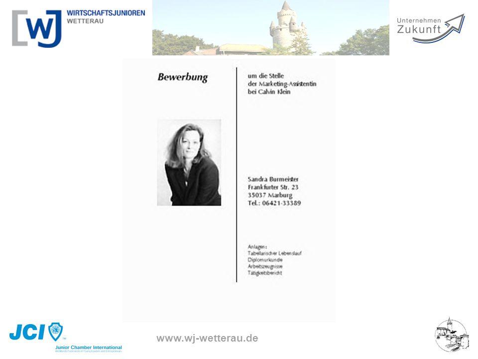www.wj-wetterau.de Das Deckblatt