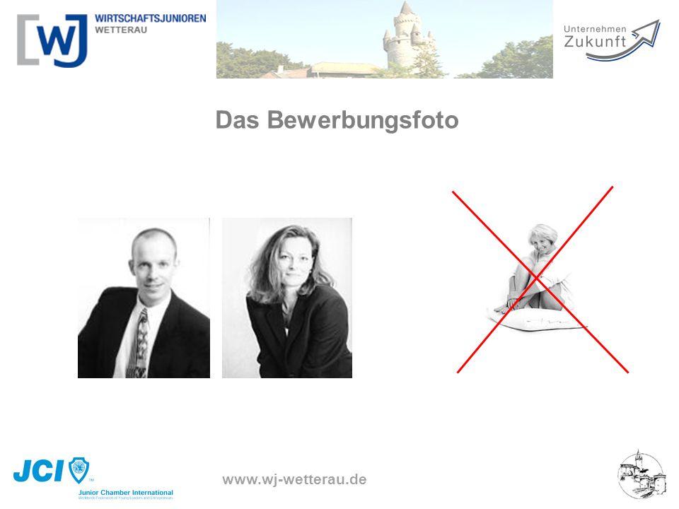 www.wj-wetterau.de Das Bewerbungsfoto