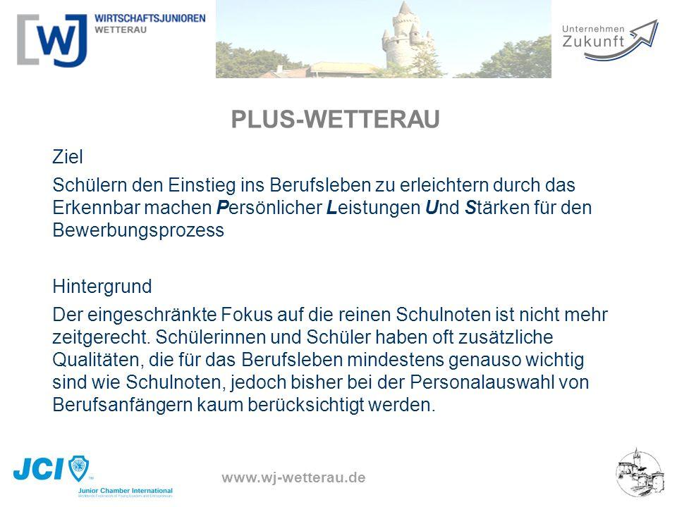 www.wj-wetterau.de PLUS-WETTERAU Ziel Schülern den Einstieg ins Berufsleben zu erleichtern durch das Erkennbar machen Persönlicher Leistungen Und Stär