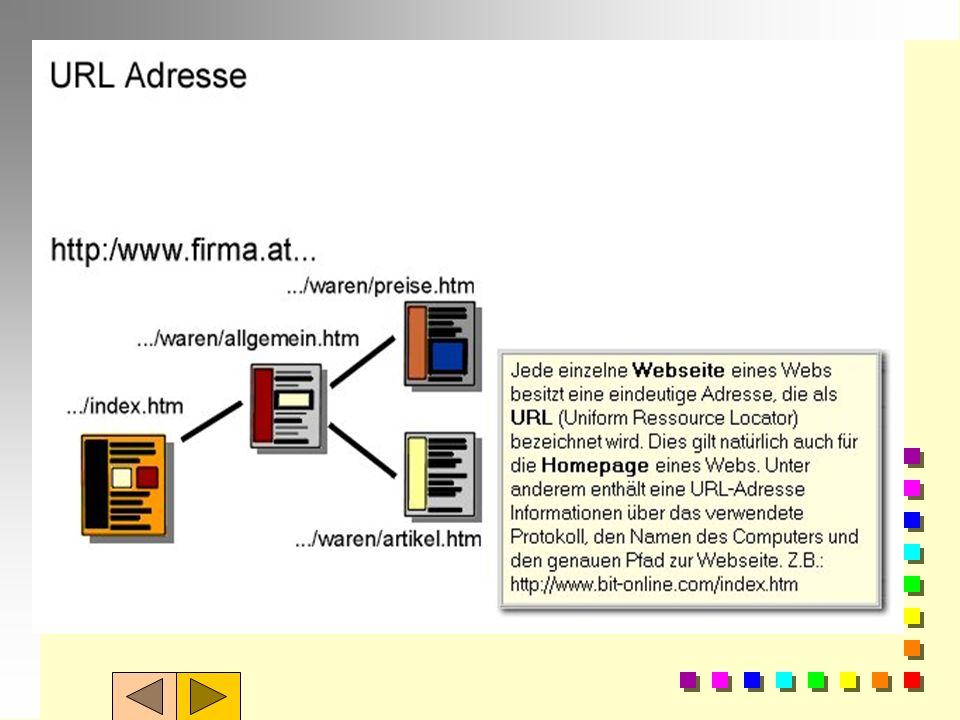 Wiederholung 2: n Jeder ansprechbare Rechner im Internet hat eine eindeutige Adresse IP-Adresse n Sie besteht aus einer 32Bit-Zahl, die in der Form xx