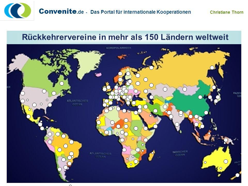 Convenite.de - Das Portal für internationale Kooperationen Christiane Thorn aus / in postgradualen Aufbaustudiengängen Aus / in grundständigen Studien