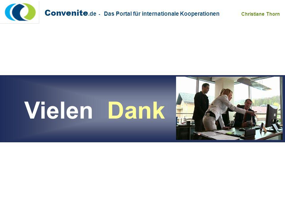 Convenite.de - Das Portal für internationale Kooperationen Christiane Thorn Vielen Dank