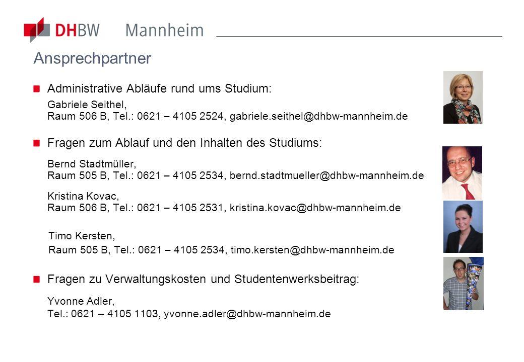 Ansprechpartner: FREUNDE und ALUMNI DHBW Mannheim e.V.