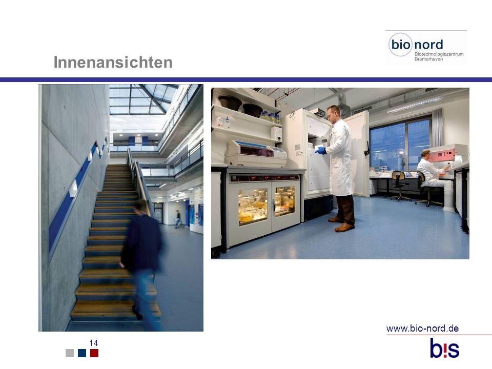 www.bio-nord.de 15 Innenansichten Larborraum im Bio Nord I Technikum