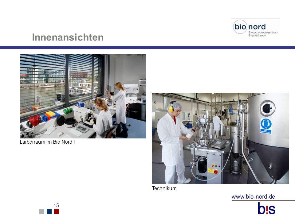 www.bio-nord.de 16 Bauliche Daten Flächen im Biotechnologiezentrum (BioNord 1 und 2) Fläche insgesamt:4.620 m² Bürofläche: 1.813 m² Laborfläche:1.492 m² Lagerfläche: 324 m² Technikum: 478 m² Multifunktionsflächen: 513 m²