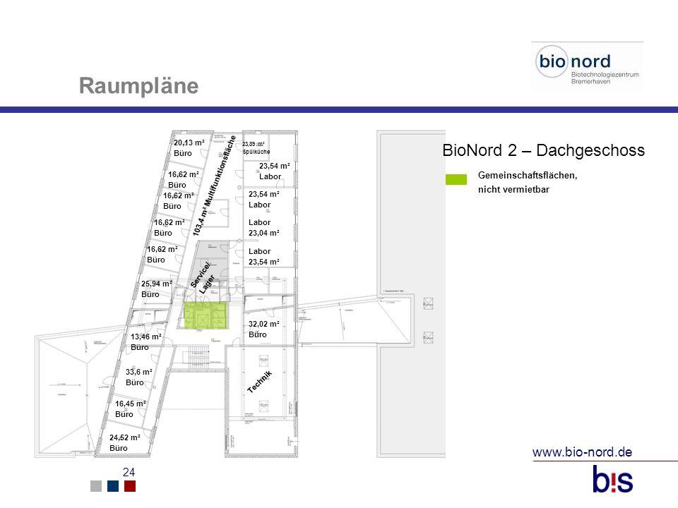 www.bio-nord.de 25 Mietpreise Büro (ab 20 m²):8,47 / monatlich (Netto) zzgl.