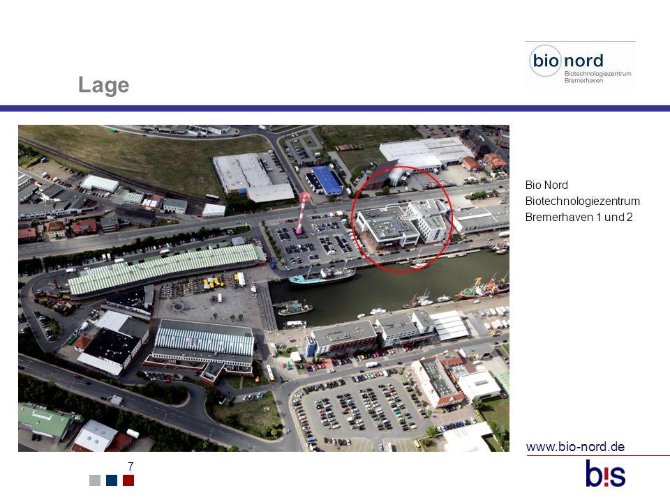 www.bio-nord.de 7 Lage Bio Nord Biotechnologiezentrum Bremerhaven 1 und 2