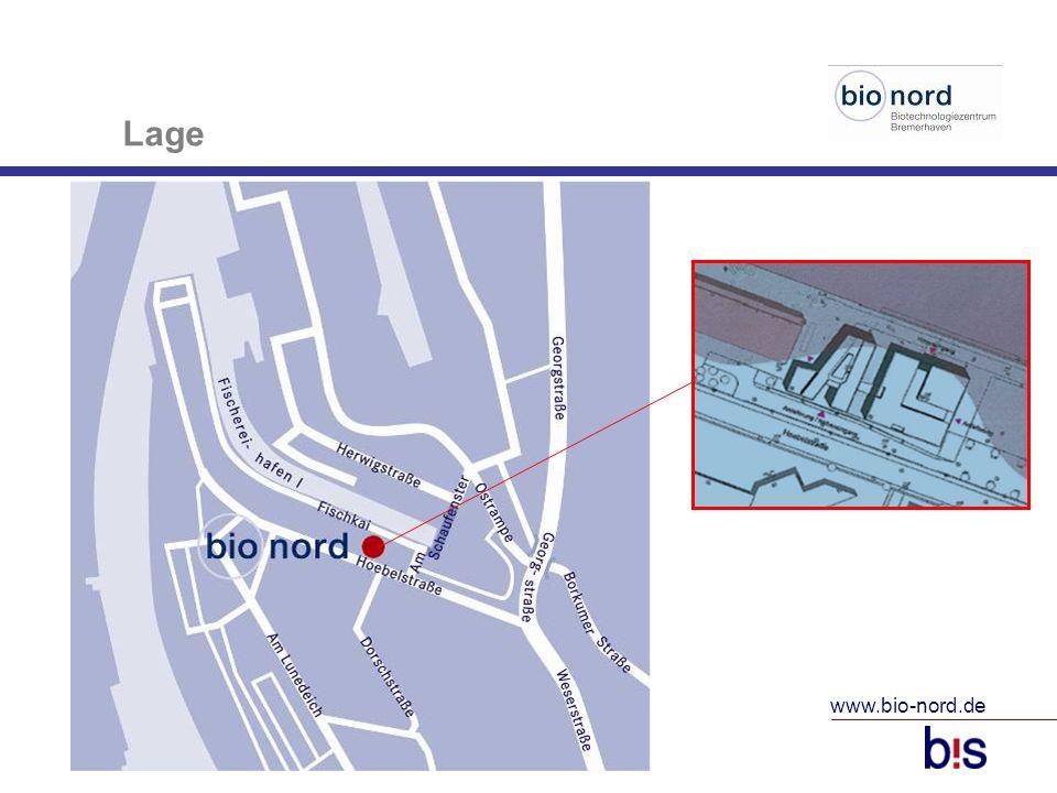 www.bio-nord.de 10 Lage Einrichtungen in der Nähe AWI (1 km) Hochschule (1 km) IMARE (1 km) BILB (500 m) BIBIS und ttz im Bio Nord Hotel (400 m) Veranstaltungszentrum (300 m) Gastronomie (300 m)