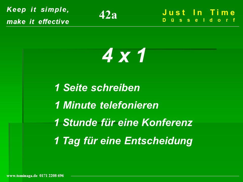 Kundenorientierung- Ein Prozeß permanenter Qualitätsverbesserung J I T Management Institut Düsseldorf www.tominaga.de 0171 2208 696 Ihre Strategie......