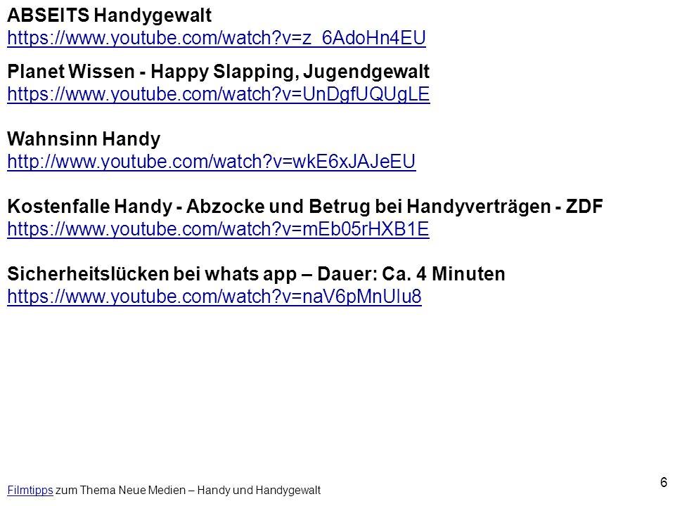 7 FilmtippsFilmtipps zum Thema Neue Medien - Computerspiele Computerfieber - Die neue Lust im deutschen Familienalltag http://www.youtube.com/watch?v=TaStmh1hEnc Gamer - zwischen E-Sport und Pixelmord (LAN-Party) http://www.youtube.com/watch?v=FJoVrQpWyCM Zwischen Hobby und Sucht - Die Online Generation http://www.youtube.com/watch?v=dbvtlFBYjwM Computerspiele Doku – Highscore – Die Geschichte der Computerspiele http://www.youtube.com/watch?v=kd8pkCJch2A Super Mario - Wie Computerspiele die Welt verändern (1.