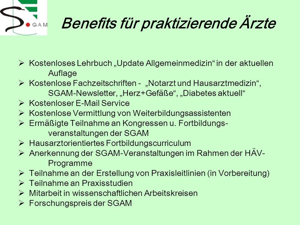 Kostenloses Lehrbuch Update Allgemeinmedizin in der aktuellen Auflage Kostenlose Fachzeitschriften - Notarzt und Hausarztmedizin, SGAM-Newsletter, Her